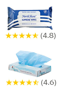 NorthShore Supreme Quilted Wipes and Heaven Scent adult diaper disposal bags