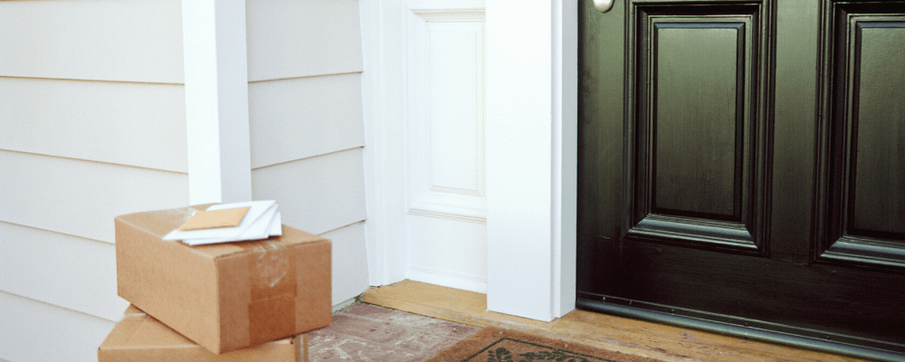 packages sitting on front door