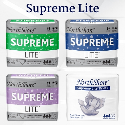 NorthShore Supreme Lite Briefs in green, blue, purple and white