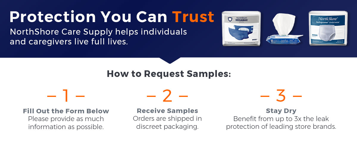 3 steps to requesting adult diaper samples on NorthShore