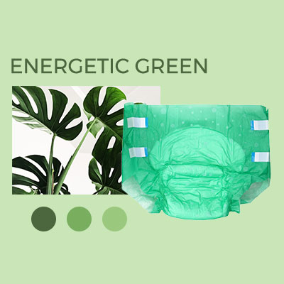 green plant and NorthShore Supreme adult diaper brief in the color green