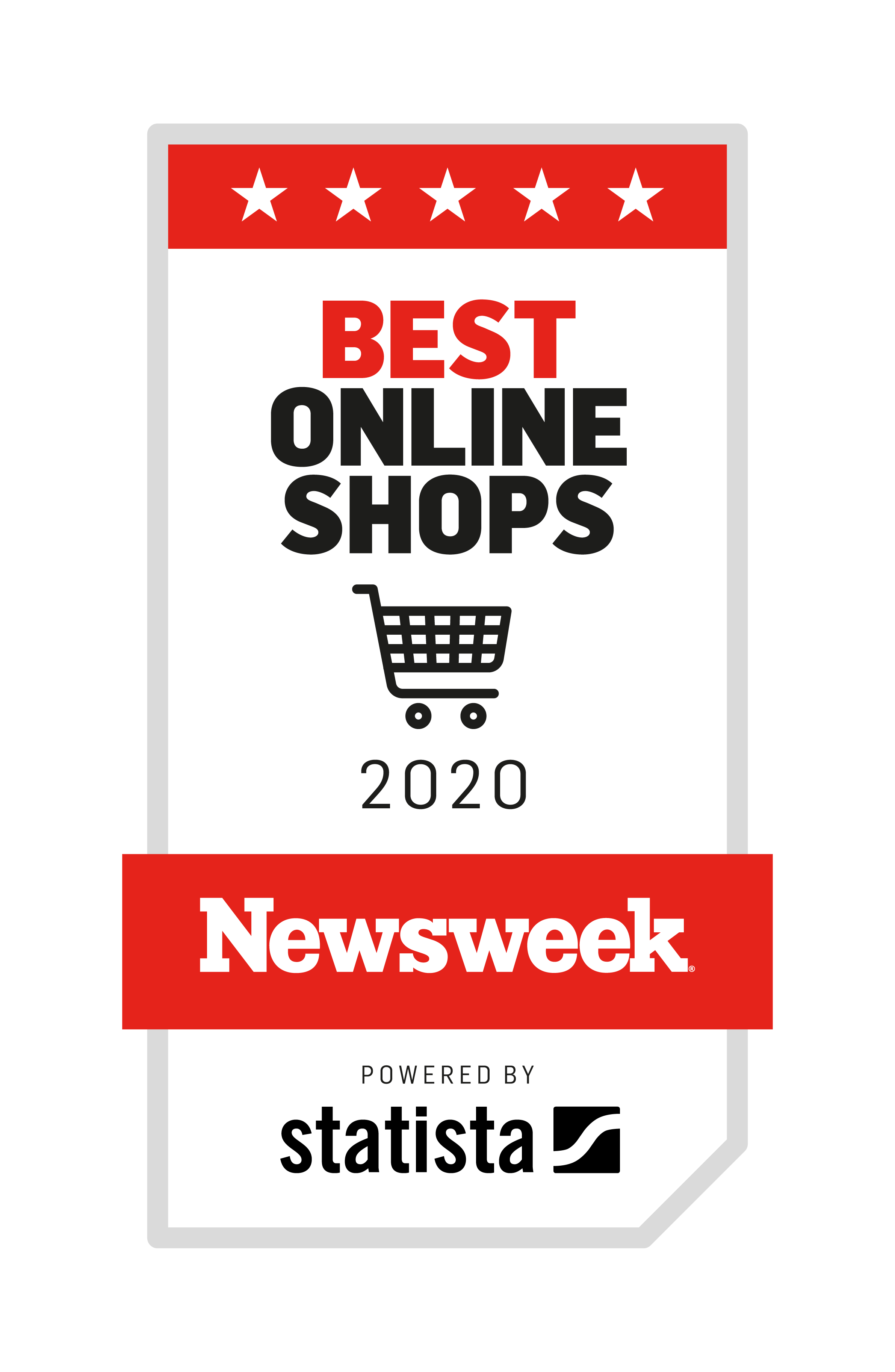 Best Online Shops of 2020 Newsweek banner
