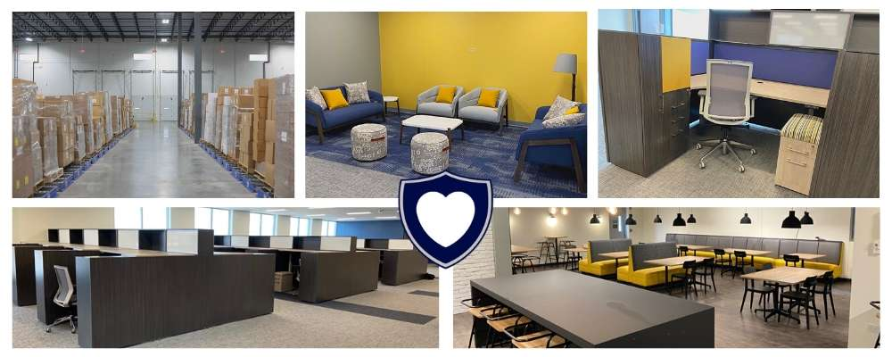 collage of NorthShore's new office in Green Oaks, Illinois