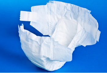 white colored tab-style adult diaper