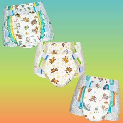 Crinklz diapers in the astronaut, aquanaut and original prints