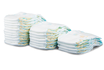 image of stacked diapers