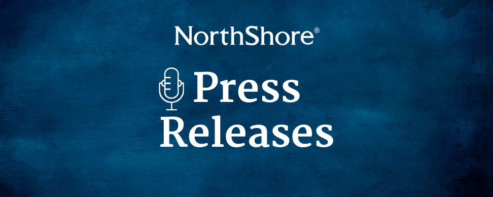 NorthShore Press Releases Hero Image with NorthShore logo and microphone