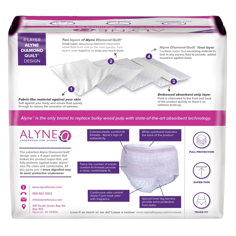 098f221de4c4 Alyne Ultra-Thin Protective Underwear for Women | Adult Diapers