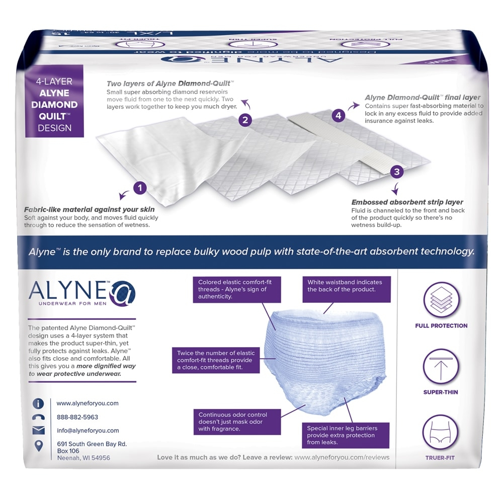 Alyne Ultra-Thin Protective Underwear for Men | Adult Diapers