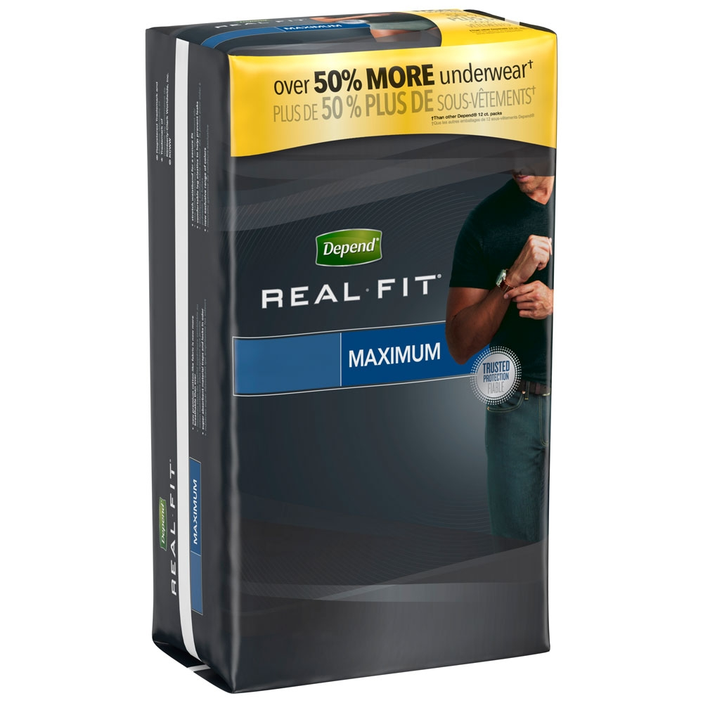 Depend Real Fit for Men Briefs