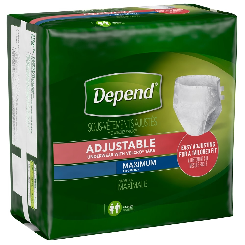 Depend Adjustable Underwear with Velcro