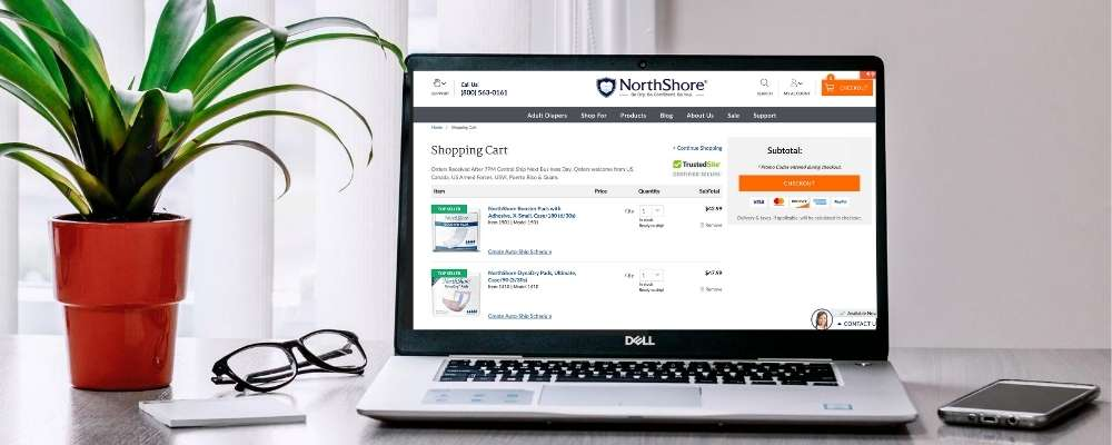 Laptop with NorthShore Website