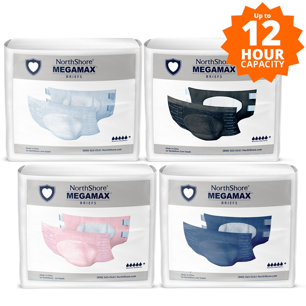 NorthShore MEGAMAX Tab-Style Briefs