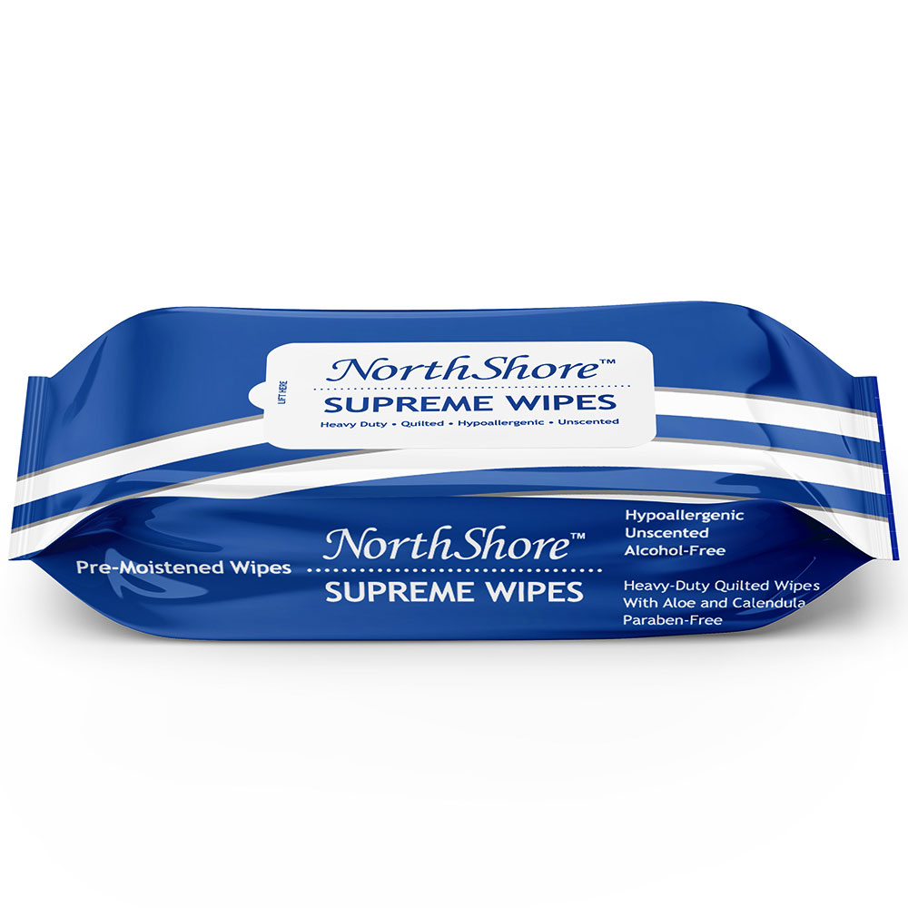 NorthShore Supreme Quilted Wipes, X-Large, 9x13 in.