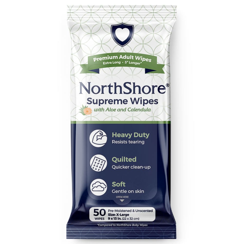 NorthShore Supreme Quilted adult wipes
