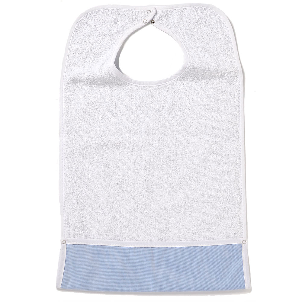 NorthShore ShirtSafe™ Premium Bib, White Terry