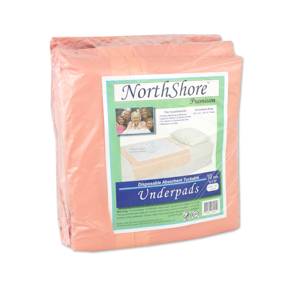 NorthShore Premium Tuckable Disposable Underpads, Package